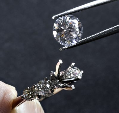 real diamond ring being remounted in a new setting